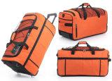 Beutel Gepäck und Argumente für Flug
