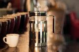 Бак давления кофеего сопротивления жары стеклянный французский для оптовика