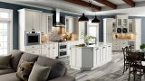 Gabinete de cozinha moderno a favor do meio ambiente da madeira contínua