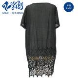 Schwarzes reizvolles Niedrig-Hohles Dame-Kleid