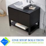 Gabinete estratificado preto da vaidade do revestimento da laca do folheado no banheiro (ZY 3020)