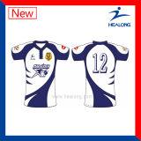 Camisa sublimada llena popular del rugbi de Healong