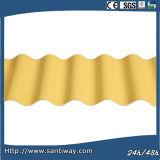El color impermeable cubrió la hoja de acero de la onda