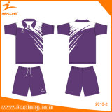 Uniformes secos rápidos feitos sob encomenda por atacado do Badminton do Sublimation de Healong