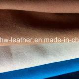 靴のライニングのための高品質のスエードファブリックPUの革