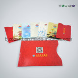 Papel RFID que obstrui a luva para o cartão de crédito