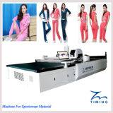 CNC de Textiel Scherpe Machine van de Stof, de Automatische Scherpe Machine van de Doek, Kledingstukken automatiseerde Scherpe Lijst