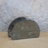 Meio suporte de vidro de Tealight da forma redonda para o presente do dia do Valentim