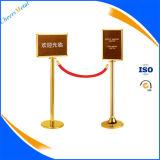 Einziehbare Line Seil Gürtel Stanchions Stand Pole Queue Barrier