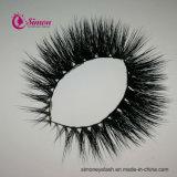 علاوة نوعية زائف جلد [ترّير] طبيعيّة سوداء يشبع شريط سيمون أهداب