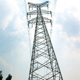 220kv Double Circuit Power Transmission Angle Steel Tower