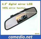 4.3 pouces Clip sur le rétroviseur arrière avec écran LCD numérique