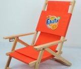 화포를 가진 옥외 대중적인 너도밤나무 나무 바닷가 접는 의자