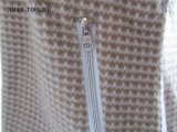 여자 긴 소매를 가진 호리호리하 이음쇠에 의하여 인쇄되는 마이크로 양털 탄력 있는 직물 재킷