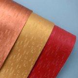 Couro decorativo gravado grade do plutônio do Synthetic liso da forma de 18 cores