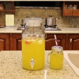 シールのふたが付いている蛇口(コック)の/Glassびんまたはガラスが付いている飲料のガラスディスペンサーかガラスの瓶
