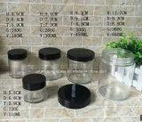 vaso di vetro a forma di rotondo 5PC con il coperchio nero