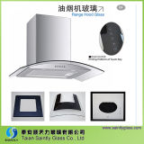 4mm 5mm 6mm Clear Float Glass Curved Glass Range Hood