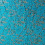 호수 파란 식물상 레이스 직물 100%년 폴리에스테