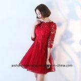 La demoiselle d'honneur rectifie demi de robes élégantes simples de noce de lacet de chemises