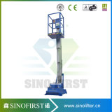 4m-12m Aluminium Alloy One Mast Lift Aerial Work Platform for Sale