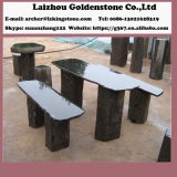 Garden Landscape Rocks and Garden Patio Ensemble de meuble de table et de banc en pierre de basalte