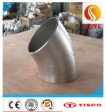 Encaixes de tubulação do aço inoxidável cotovelo de 180 graus