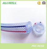 PVCプラスチック適用範囲が広いファイバーによって編まれる補強された灌漑用水の管のガーデン・ホースの管