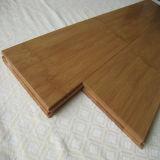 Plancher en bambou horizontal carbonisé par laque UV de T&G