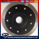 Agudeza Cyclone Mesh Turbo Diamond Saw Blade para Ceramic Marble