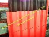 Folha ondulada da telhadura do PVC que faz a máquina