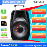 8 Zoll DJ-bewegliche Karaoke-Audiolautsprecher mit Bluetooth, Licht, Mic