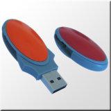 Impulsión libre de la pluma de la impulsión del flash del USB del eslabón giratorio de la insignia