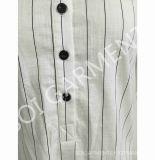 Frauen Longy Art-nachgemachte Baumwollhemd-Bluse (SH-36)