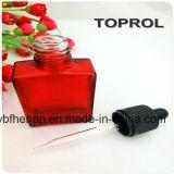 Frascos 30ml de vidro quadrados vermelhos para E-Líquidos e o petróleo essencial