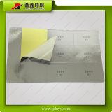 Печатание стикера серебряной фольги лоснистое