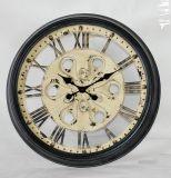 Horloge de mur en métal de chiffre romain