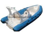 Barco de Aqualand 19feet 5.8m Feiberglass/barco inflável rígido de /Motor do barco (RIB580s)