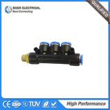 Constructeur rapide en plastique de connecteur de tube pneumatique de boyau