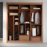 Hook Rails를 가진 Partical Board Wooden Wardrobe