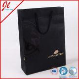 Bolso de compras de papel del regalo de Costomized de la laminación de lujo con la mano