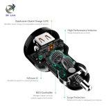Carregador rápido do carro do traço da carga 3.0 com portas duplas do USB para a galáxia S8/S7 de Samsung
