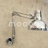 Modernes volles Chrom-Metallfaltbares und justierbares Doppeltes armiert Wand-Lampe
