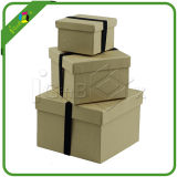 Recyeled Large Gift Box con Lid