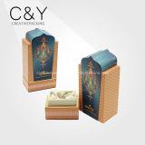 Rectángulo de empaquetado de encargo de la botella de perfume del papel de la impresión con la congregación