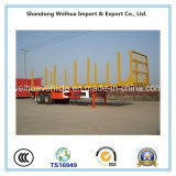 Semi Aanhangwagen van uitstekende kwaliteit van het Bed van het Vervoer van 60 Ton de Houten Lage met Staak