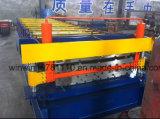 Rolo galvanizado de dois andares da chapa de aço que dá forma à máquina