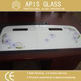 Templado Cerámica Impreso estufa de cristal / mechero de gas de cristal superior