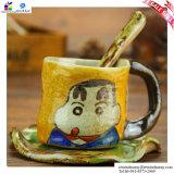 Copo de café Hand-Painted e canecas creativas do presente dos desenhos animados