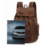 卸売価格の袋をハイキングする偶然のキャンバスの革肩のバックパックのリュックサックのBookbagの学生かばん